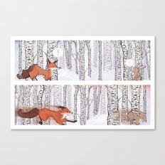 A Winter Race Canvas Print