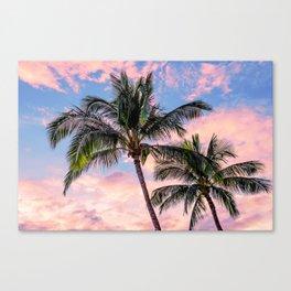 Palms Away - Study 41 Canvas Print