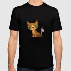 The Great Gold Meow MEDIUM Black Mens Fitted Tee