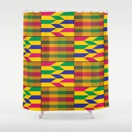 West African Kente Pattern Shower Curtain