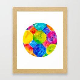 Geometric Brights #1 Framed Art Print