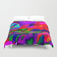 cracked Duvet Covers featuring Cracked by David  Gough