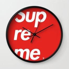 Supreme 5 Wall Clock