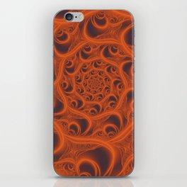 Fractal Web in Halloween Orange iPhone Skin