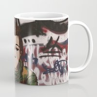 street fighter Mugs featuring Street fighter by Vince Beauchemin
