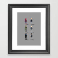 Amazing Spider-Man Pixel Art: Alter Egos Framed Art Print