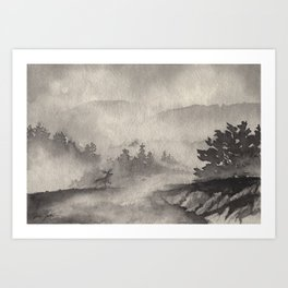 Adirondacks in the Mist Art Print