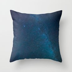 Winter Night Sky Milky Way Throw Pillow