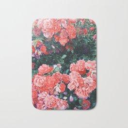 Psychedelic summer florals Bath Mat