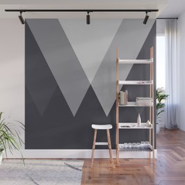 Sawtooth Inverted Blue Grey Wall Mural