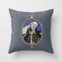 castlevania Throw Pillows featuring Dracula's Dhampir by CaptainSunshine