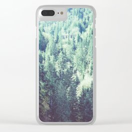 Trestle in the trees Clear iPhone Case