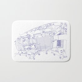 bonney drawing blue Bath Mat