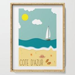 Cote d'Azur Serving Tray