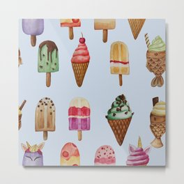 Ice Cream Pops and Lollies Sweet Tooth Metal Print