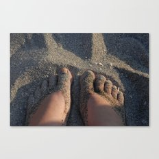 Shoes of Sand Canvas Print