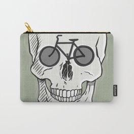Skullbikery digital art by British artist Peter Gander Carry-All Pouch