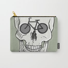 Skullbikery digital art by British artist Peter Gander Carry-All Pouch