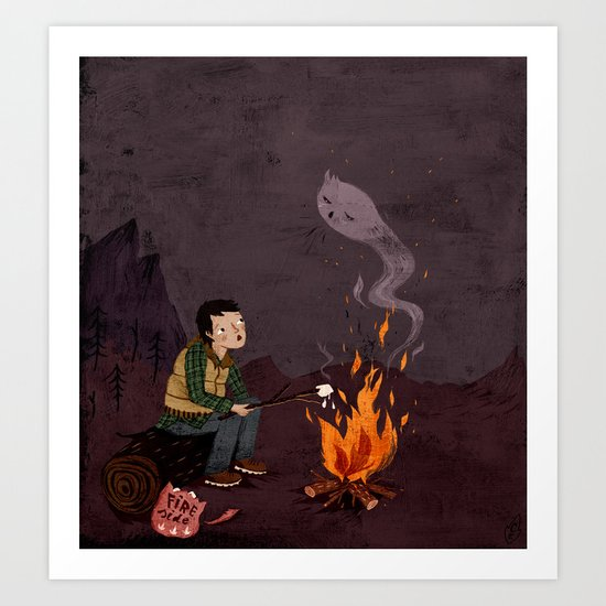 I got bad news for you, said the ghost. Art Print