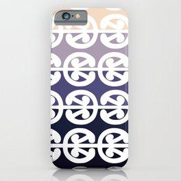 Mangopare Kowhaiwhai Design, Black to Cream iPhone Case
