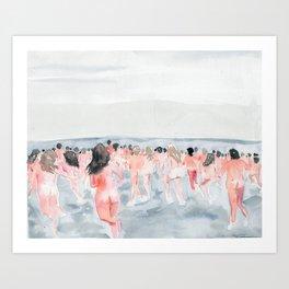 Skinny Dip Run Art Print