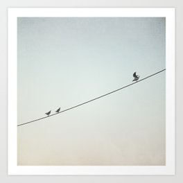 The pursuit of happiness Art Print