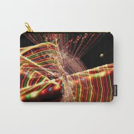 Abstract Xmas Lights Sculpting Carry-All Pouch