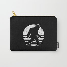 Retro Bigfoot Sasquatch Silhouette Cartoon Carry-All Pouch