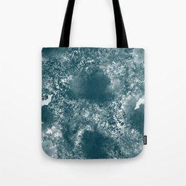 Teal Abstract Tote Bag