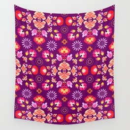 Fiesta Folk Purple #society6 #folk Wall Tapestry