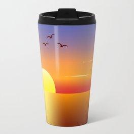 Sunset at tropical beach Travel Mug