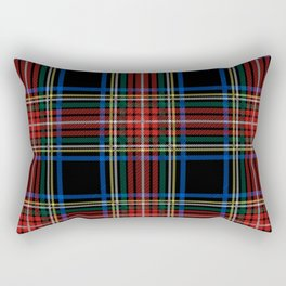 Minimalist Black Stewart Tartan Rectangular Pillow