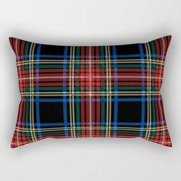 Minimalist Black Stewart Tartan Rectangular Pillow
