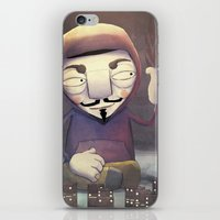 anonymous iPhone & iPod Skins featuring anonymous by Emilio Rizzo