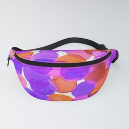 Watercolor Circles - Purple Red Orange Palette Fanny Pack