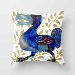 """William De Morgan """"Dodo bird"""" 3. Throw Pillow"""