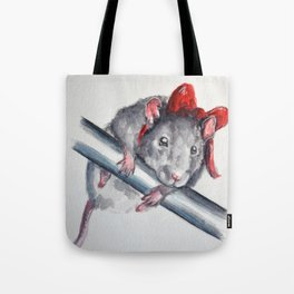 Rat in a bow Tote Bag