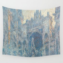 1894-Claude Monet-The Portal of Rouen Cathedral in Morning Light-65 x 100 Wall Tapestry