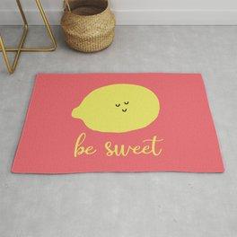 Ironic Lemon Says Be Sweet Rug