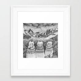 Icelandic foxes Framed Art Print