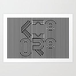 KiaOra New Zealand Greeting Art Print