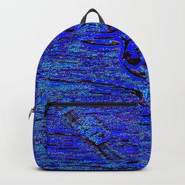 gull in flight, blue Backpack