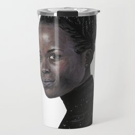 Lupita Nyong'o Portrait Travel Mug