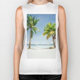 Palm trees, hammock Biker Tank