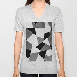 Gray Black White Geometric Glam #1 #geo #decor #art #society6 Unisex V-Neck
