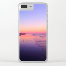Dusk Beach in Brigantine Clear iPhone Case