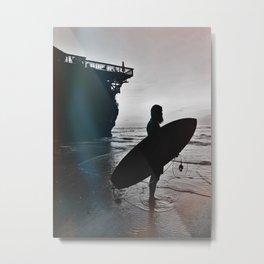 surfer uluwatu bali Metal Print