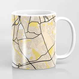 Middlesbrough Yellow City Map Coffee Mug
