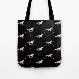 Rainbow Unicorns & Stars Tote Bag