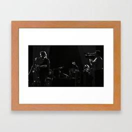 The artist captures the artist who captures the artist. Framed Art Print